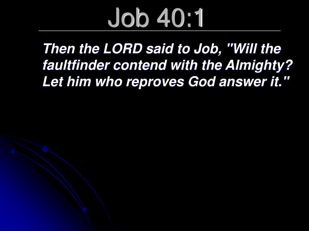 Job 40:1