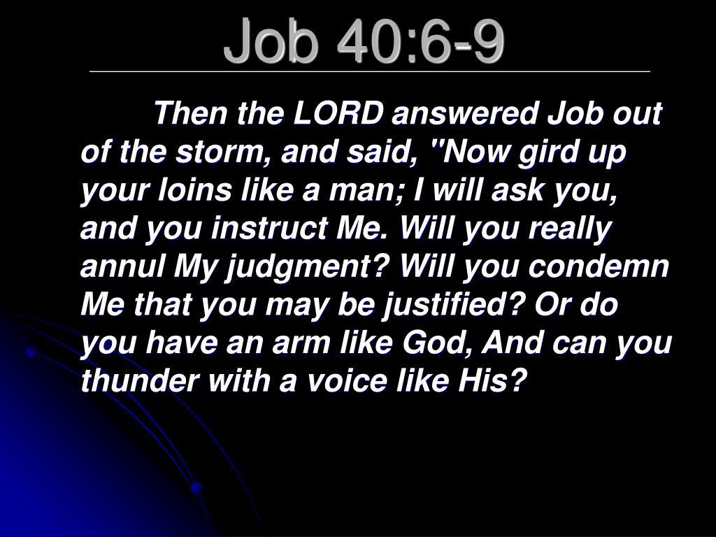 Job 40:6-9