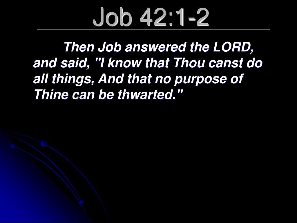 Job 42:1-2