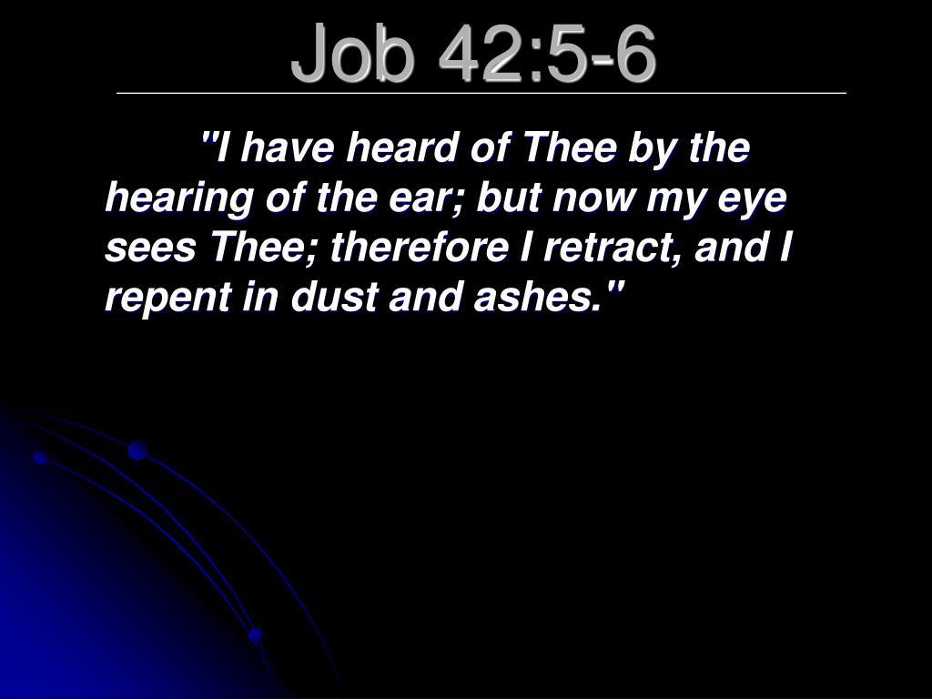 Job 42:5-6