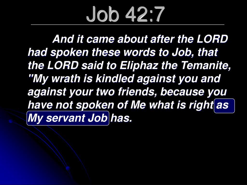 Job 42:7