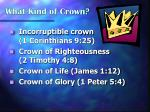 what kind of crown