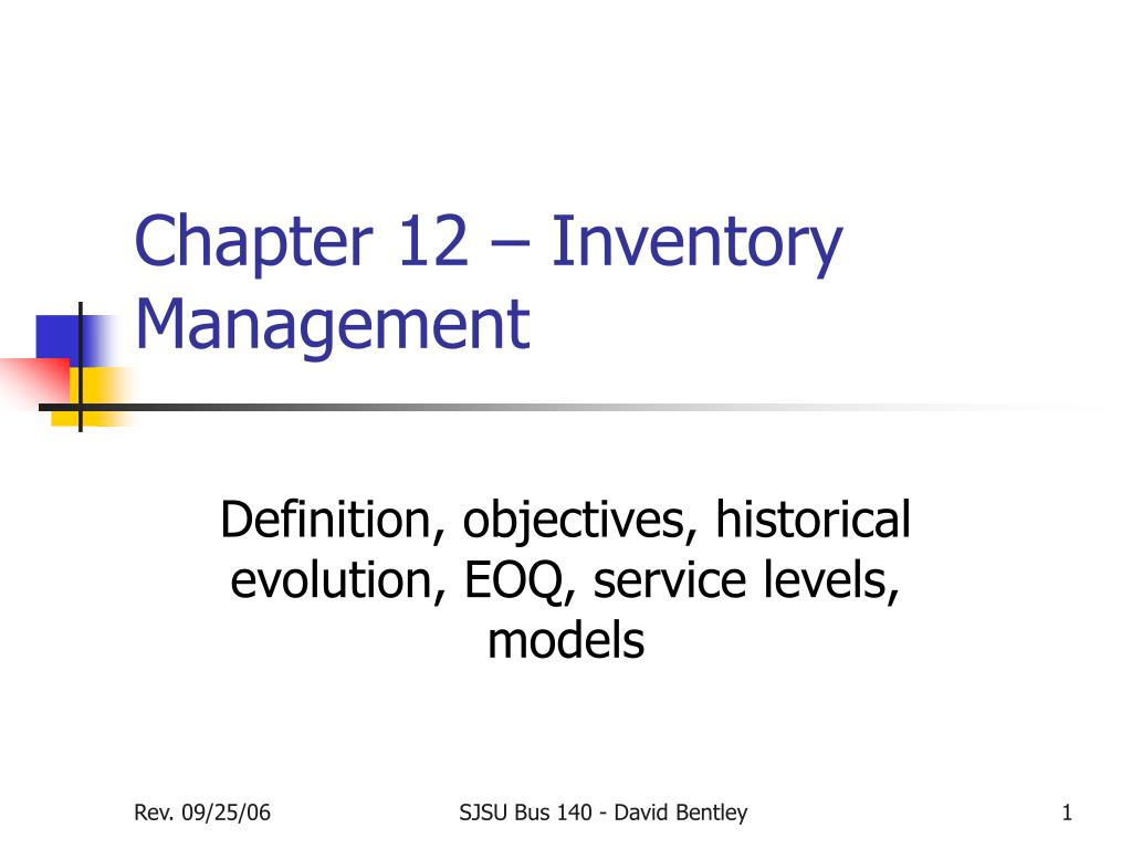 chapter 12 inventory management l.