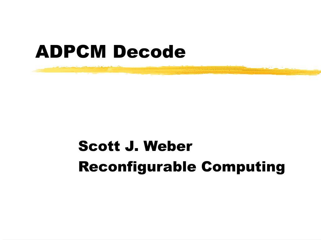 adpcm decode l.