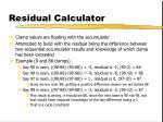 residual calculator