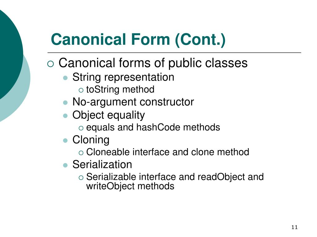 Canonical Form (Cont.)