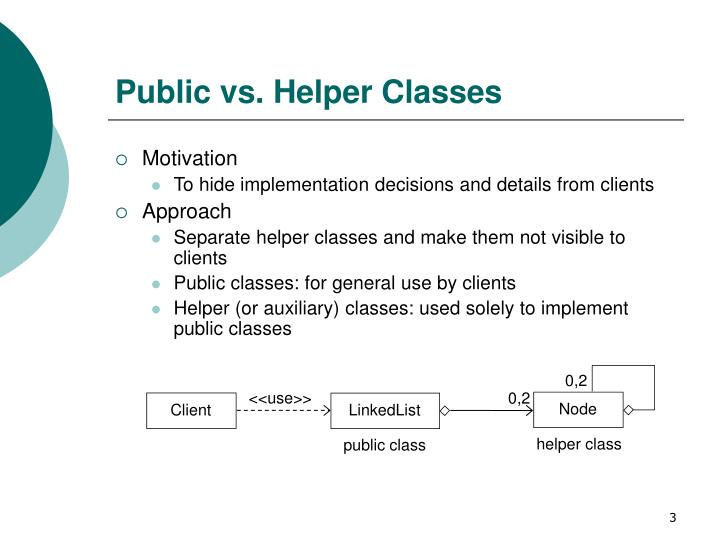 Public vs helper classes