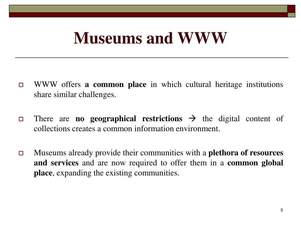 Museums and WWW