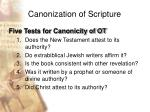 canonization of scripture33