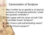 canonization of scripture34
