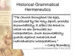 historical grammatical hermeneutics69