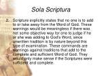 sola scriptura22