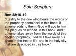 sola scriptura24