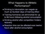 what happens to athletic performance