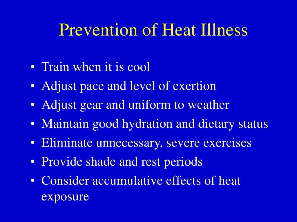 Prevention of Heat Illness