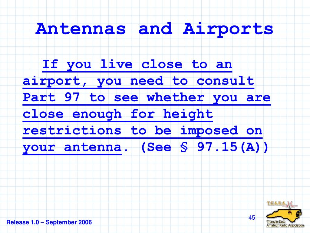 Antennas and Airports