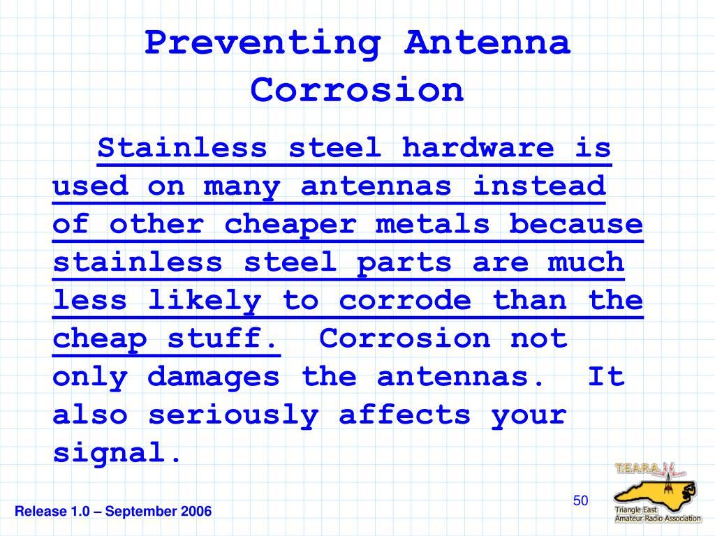 Preventing Antenna Corrosion