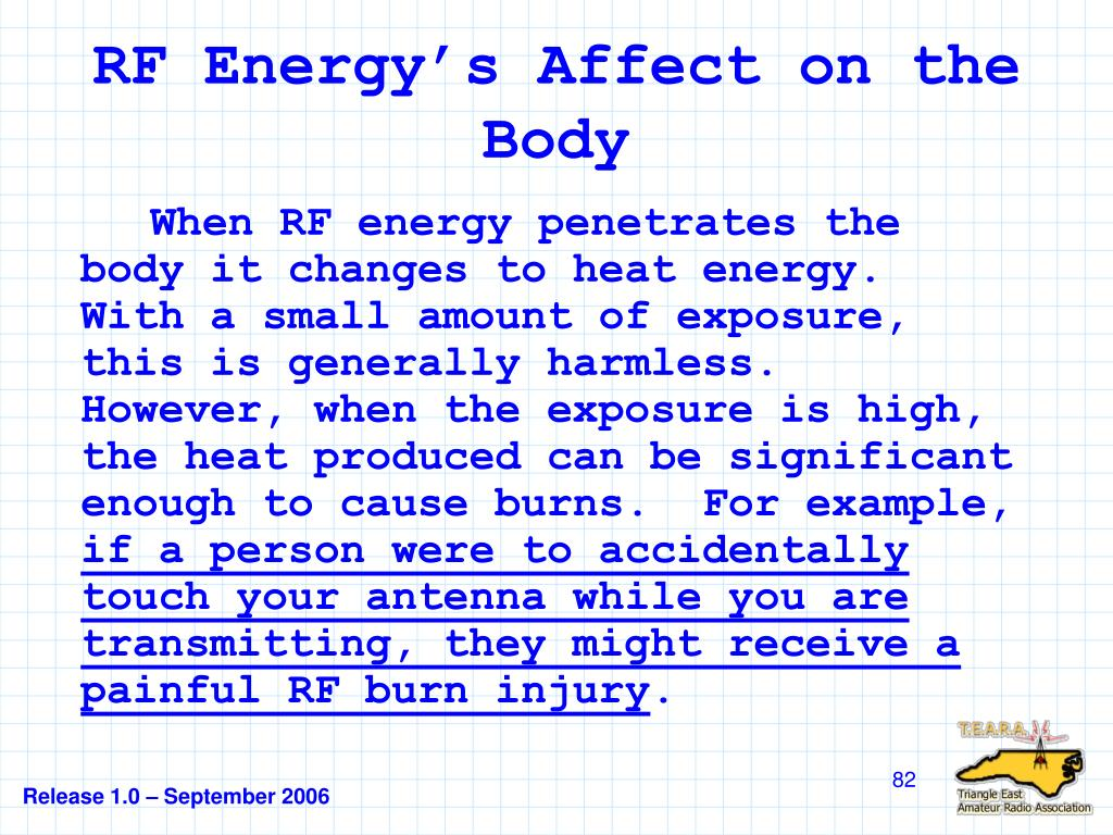 RF Energy's Affect on the Body