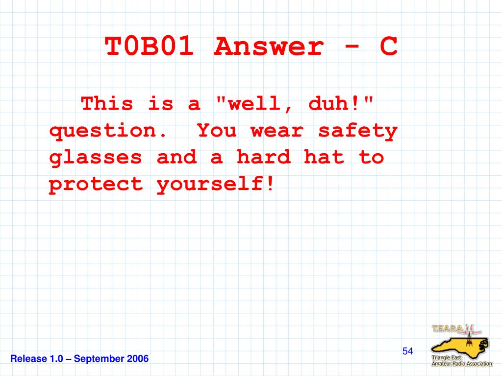 T0B01 Answer - C