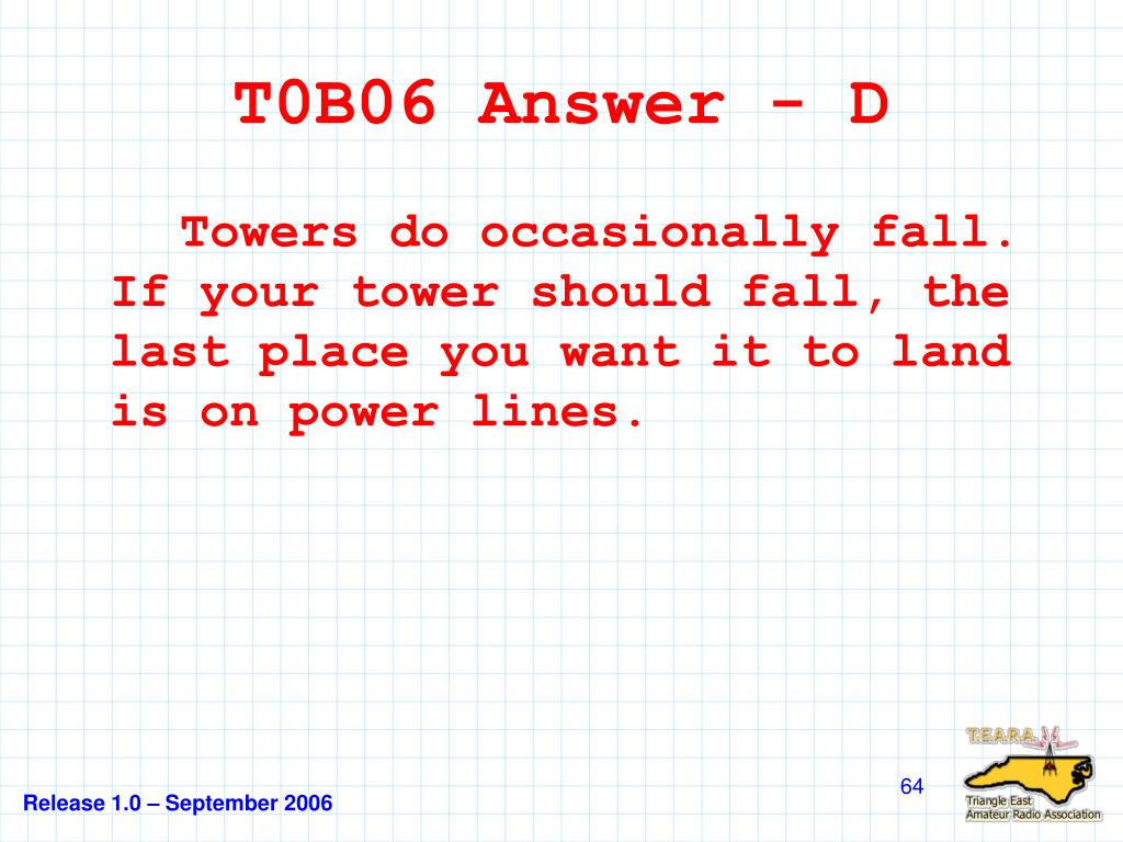 T0B06 Answer - D