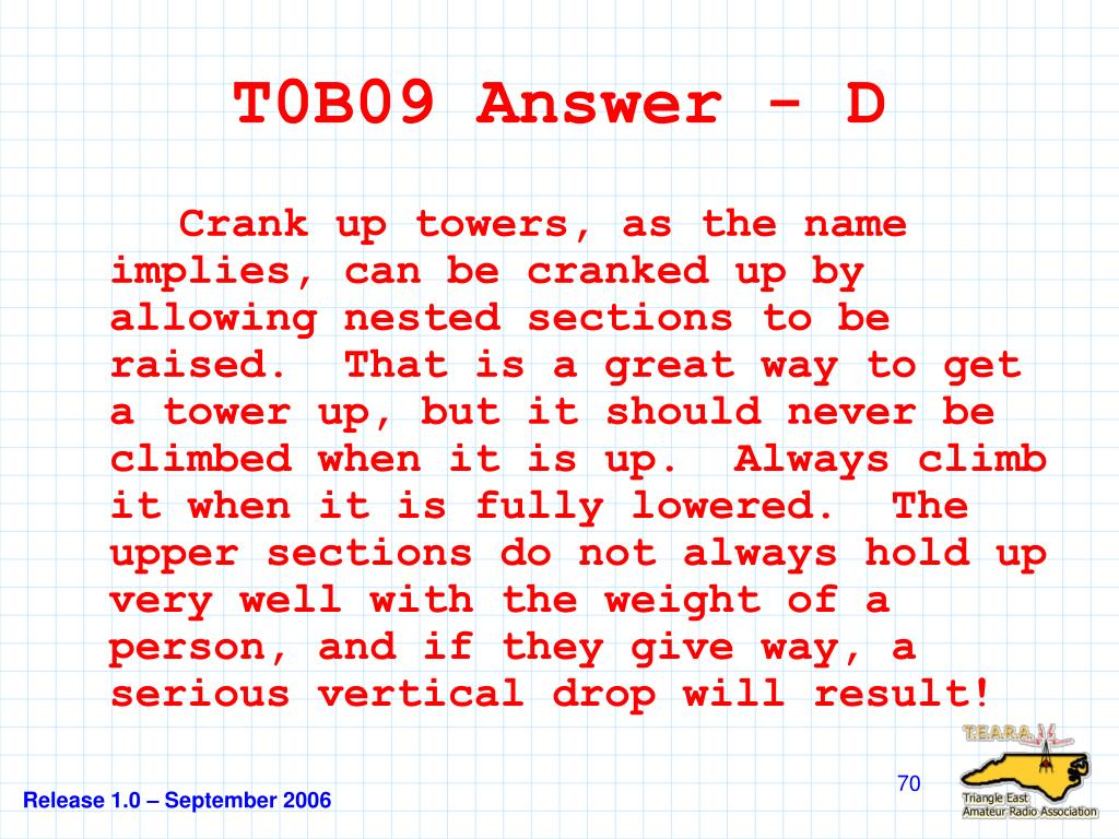 T0B09 Answer - D