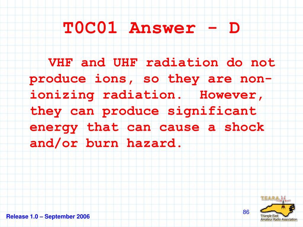 T0C01 Answer - D