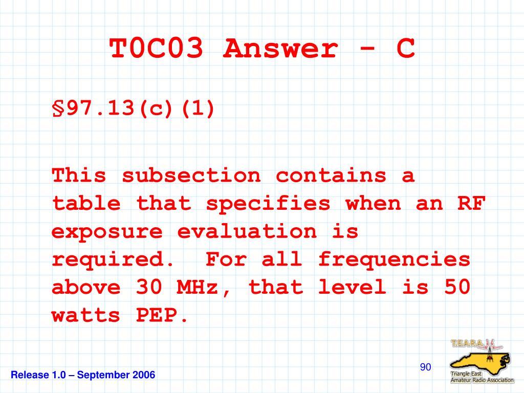 T0C03 Answer - C