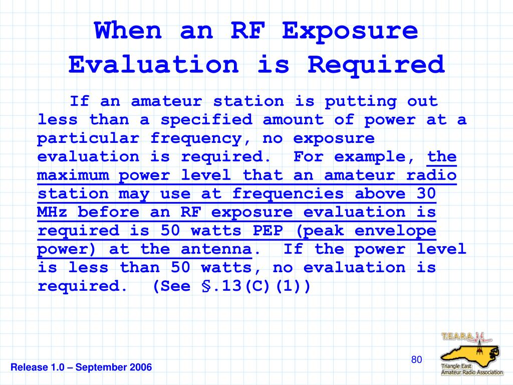 When an RF Exposure Evaluation is Required