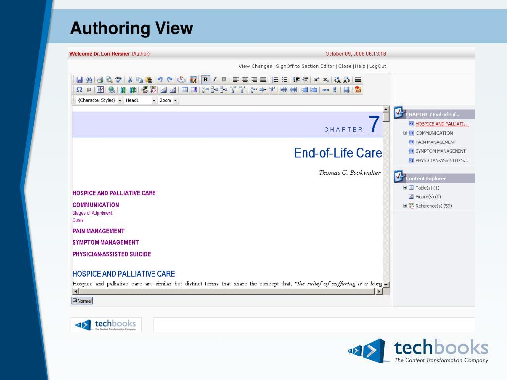 Authoring View