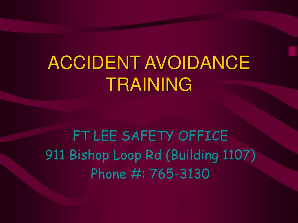 accident avoidance training l.