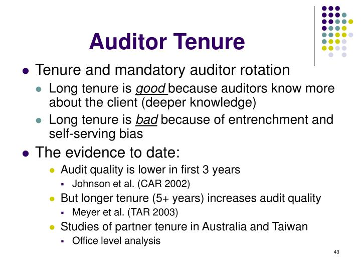 mandatory auditor rotation a way for As for mandatory rotation, we found no significant relation between auditor skepticism and the length of companies' relationships either with audit firms or engagement partners.