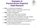 examples of practice driven empirical audit research