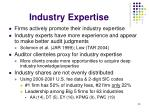 industry expertise