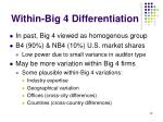 within big 4 differentiation