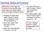 slotted aloha efficiency