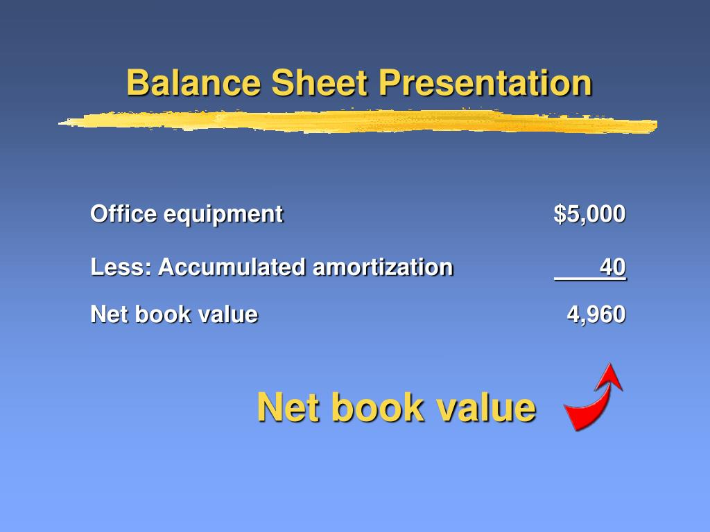 Net book value