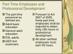 part time employees and professional development