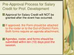 pre approval process for salary credit for prof development1