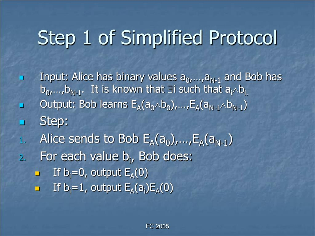 Step 1 of Simplified Protocol