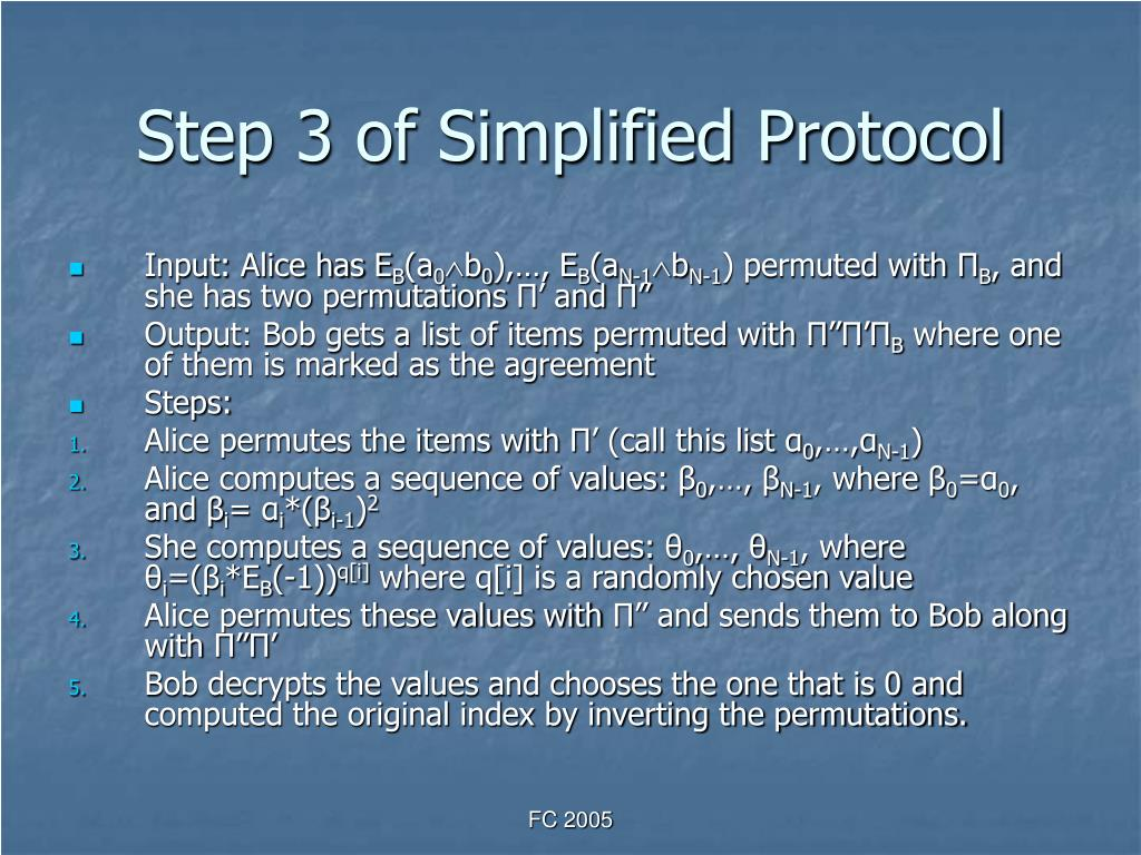 Step 3 of Simplified Protocol