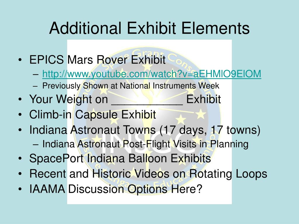 Additional Exhibit Elements