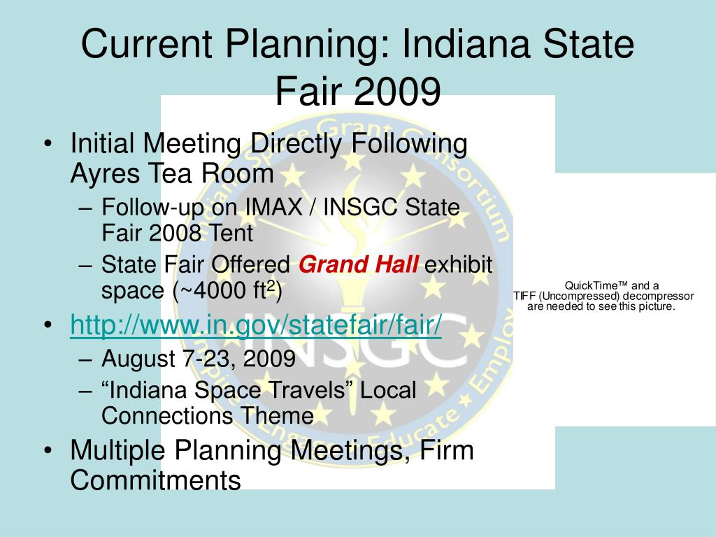 Current Planning: Indiana State Fair 2009