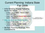current planning indiana state fair 2009
