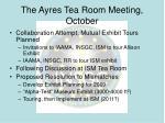 the ayres tea room meeting october