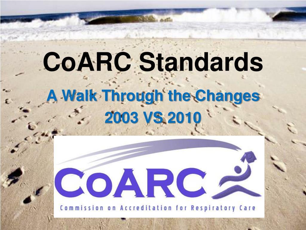 CoARC Standards