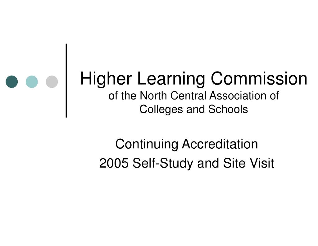 higher learning commission of the north central association of colleges and schools l.