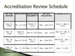 accreditation review schedule