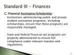 standard iii finances88