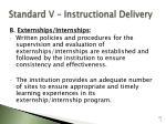 standard v instructional delivery101