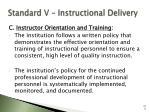 standard v instructional delivery108